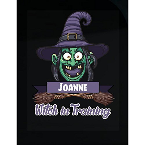 Halloween Costume T Shirt For Kids Joanne Witch In Training Funny Halloween Gift - Sticker -