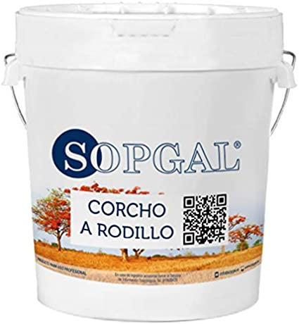 Pintura de Corcho natural para aplicar a rodillo 15 litros - ocre ...
