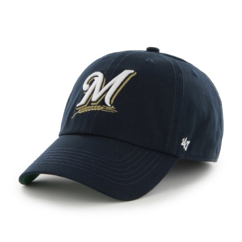 - MLB Milwaukee Brewers Cap, Navy, Medium