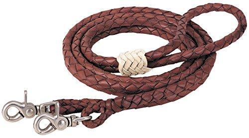 Weaver Leather 50-1750 Round Braided Latigo Roper Rein, Brown, 3/8