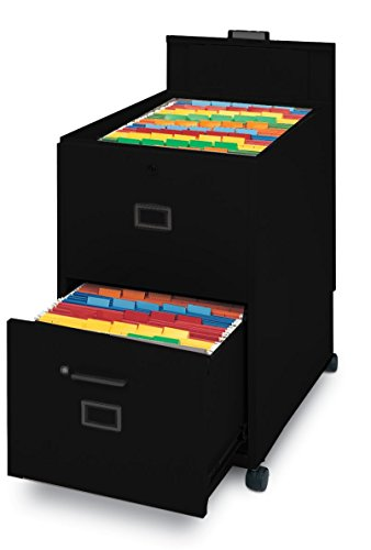 Mayline 9P620BLK File with Lid and and Drawer Mobilizer, Black Paint
