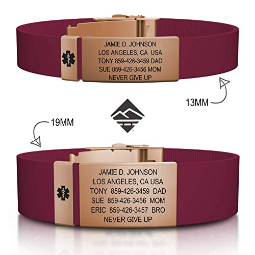 (Road ID Personalized Medical ID Bracelet - Official ID Wristband with Medical Alert Badge - Silicone)