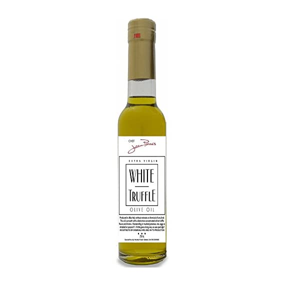 White Truffle Oil SUPER CONCENTRATED 200ml (7oz) 100% Natural NO ARTIFICIAL ANYTHING 2 A 'tea method' is utilized to steeps the ripe truffles for extended periods of time in olive oil Real shaved truffle are infused with the first pressing of Olive only a few hours of harvest Big Truffle flavor, not chemically produced like most truffle oil on the market