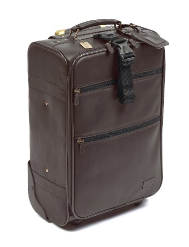 Claire Chase Classic 21 Inch Pullman, Cafe, One Size (Cafe Brown Leather)