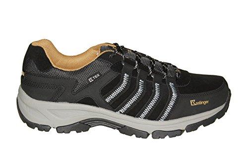 Kastinger - Zapatillas de senderismo de Piel para hombre negro negro