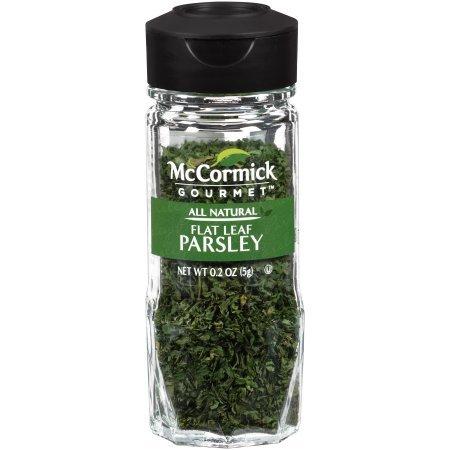 (1) McCormick Gourtmet All Natural Flat Leaf Parsley 0.2oz by M