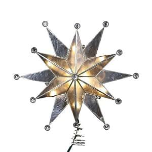 Kurt Adler 25,4cm Capiz estrella doble con gemas Árbol iluminado