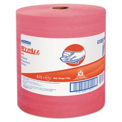 Kimberly-Clark 41055 Red WYPALL L80 Wipers, Jumbo Roll, 12.5
