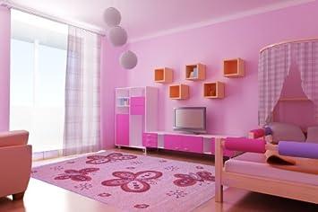 Teppich Schmetterling Rosa ~ Amazon kinder teppich schmetterling rosa verschiedene größen