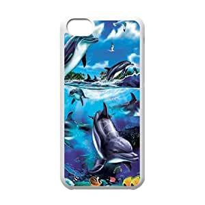 Dolphin CHA6027074 Phone Back Case Customized Art Print Design Hard Shell Protection Iphone 5C