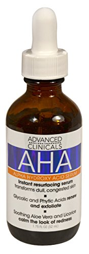 Advanced Clinicals AHA Alpha Hydroxy Acid Instant Resurfacing and Hydrating Serum 1.75 Fl Oz. ()
