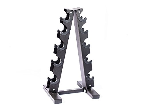 Fitness Alley Steel Dumbbell Rack - 5 Tier Weight Holder & 5 Tier Weight Rack Dumbbell Stand - Dumbbell Holder - Dumbbell Rack Stand - Weight Racks for Dumbbells of All Sizes by Fitness Alley (Image #2)
