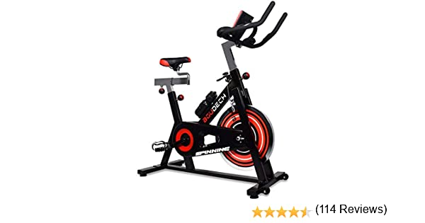 Bicicleta de spinning profesional con volante de 18 kg, pedales ...