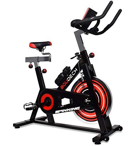 3ac3af7cb0a5a7 Boudech Bici da Spinning Professionale con volano da 18Kg - Cyclette Spin  Bike da Corsa per