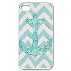 DIYPCASE Diy hard Case Anchor Chevron Customized Bumper Plastic case For Iphone 4/4s