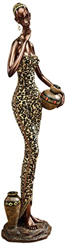 Design Toscano African Water Gatherer Statue, Full Color