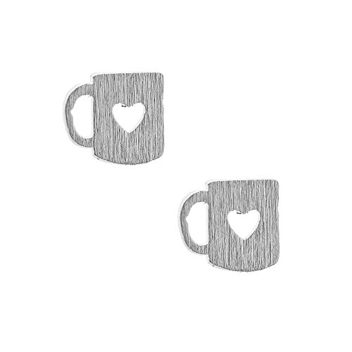 Spinningdaisy Handcrafted Brushed Coffee Earrings