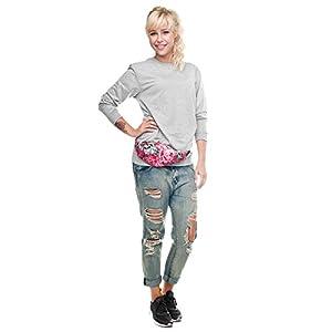 HN Sports Hiking Running Belt Waist Bag Pack For Women Fashion Pouch Zip (A)
