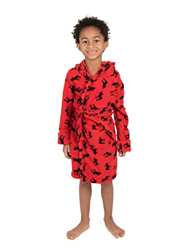 Leveret Kids Fleece Sleep Robe Moose Size 5 Years
