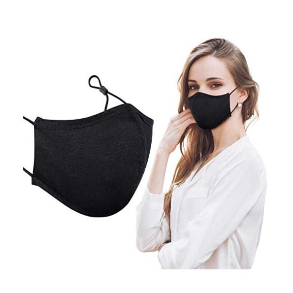 Mundschutz-Maske-Wiederverwendbar-Hochwertiges-Gesichtsmaske-Waschbar-mit-3-lagig-Baumwolle-Filter-Multifunktional-Trainingsmaske-fr-Radfahren-Laufen-Staubschutzmaske-fr-Damen-Herren