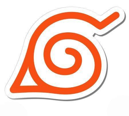Vinyl Magnet Applied (Magnet Naruto Konoha Leaf Symbol - Magnetic vinyl sticks to any metal fridge, car, signs 5