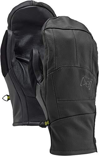 Burton Ak Leather Tech Mitts, True Black, - Ak Tech Glove