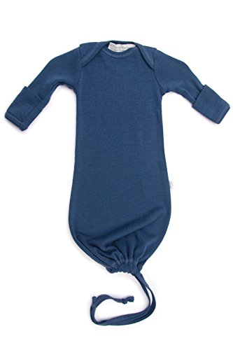 Pure Merino Wool Baby Sleep Sack. Kids Infant Gown Sleeper Bag. Blue ()