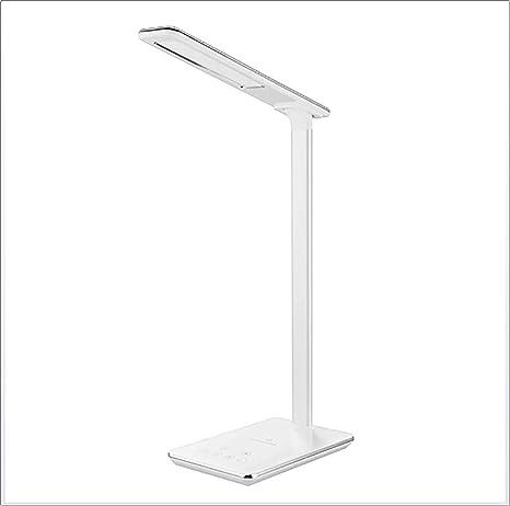 Lámpara de mesa LED Lámpara de mesa regulable con cargador ...
