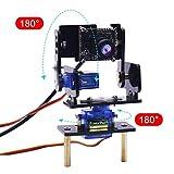 #6: Yahboom Camera Module Smart Vision Sensor Pan-Tilt Kit with 2 pcs SG90 Micro Servos Smart Robot HD Camera for Raspberry Pi