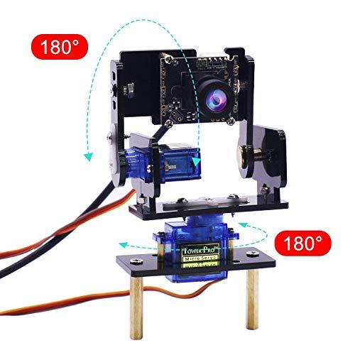 Pan Tilt Servos (Yahboom Camera Module Smart Vision Sensor Pan-Tilt Kit with 2 pcs SG90 Micro Servos Smart Robot HD Camera for Raspberry Pi)