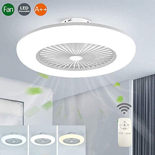 Ventilador De Techo Con Iluminación Led Luz Viento Ajustable Control Remoto Regulable 32W Sigilo Moderno Ultra…