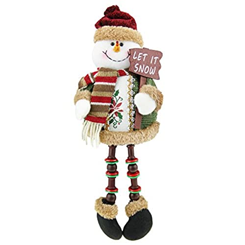 christmas snowman plush stuffed toy standing collectible figurines stacking figure toy xmas home indoor table display ornament party decoration costume - Indoor Snowman Christmas Decorations