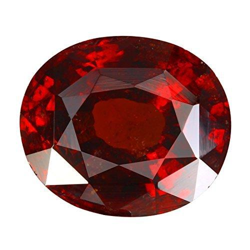 Getgemstones 8.5 Carat Hessonite Garnet Stone Original Certified Loose Oval Shape Gomed