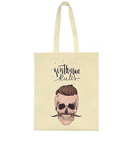 Gorgeous Hipster Bag Skull Gentleman Man Tote Rules Rules Gentleman IwUtq