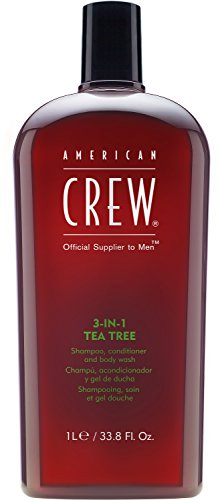 Products Tea Tree Shampoo - American Crew 3-In-1 Shampoo Conditioner & Bodywash, Tea Tree, 33.8 Ounce