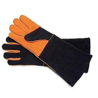 Steven Raichlen Best of Barbecue Extra Long Suede Grill Gloves (Pair) - SR8038 (B0007ZGURU) | Amazon Products