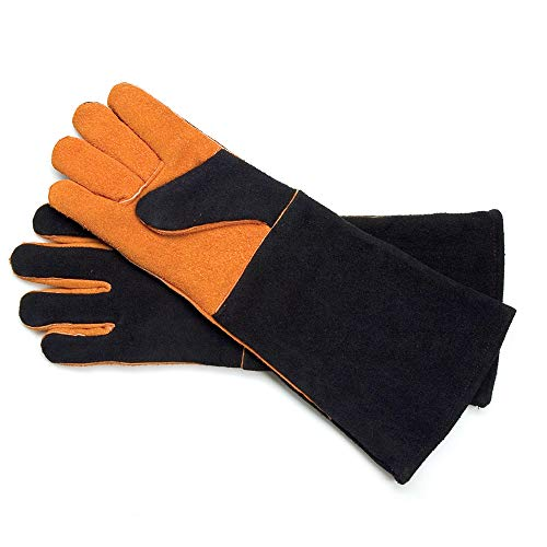 Doe Suede Body - Steven Raichlen Best of Barbecue Extra Long Suede Grill Gloves (Pair) - SR8038