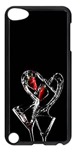 iPod 5 Case Drinks Heart PC Custom iPod 5 Case Cover Black
