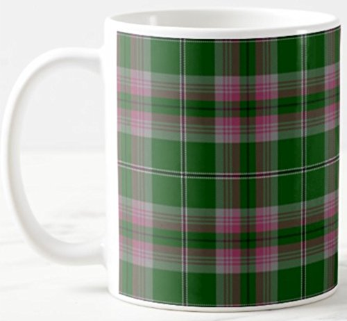 - Scottish Clan Gray Tartan on 11 Oz. Ceramic Coffee Mug