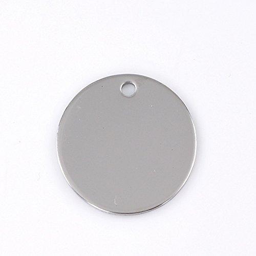 - Bulk Engraving - Custom Charm Pendant Stainless Steel Stamping Blanks Tags 10pcs 30mm(1 1/8