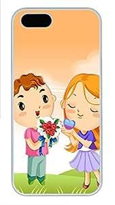iPhone 5 5S Case Cute Bouquet Couple PC Custom iPhone 5 5S Case Cover White