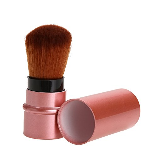 Retractable Cosmetic Brush Makeup Contour Foundation Blush Tool (Rose Gold) ()