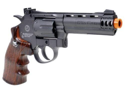 wg co2 revólver con aire suave sin retroceso revólver airsoft pistola pistola de 4 cañones (pistola de airsoft)