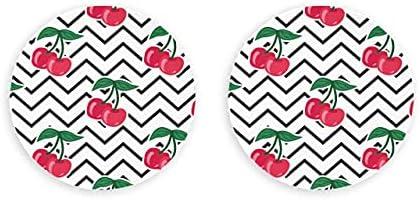 Vector Seamless Cherry Stripes Cherry Abrebotellas 2 piezas Círculo Imanes Nevera Magnético Abrebotellas de cerveza