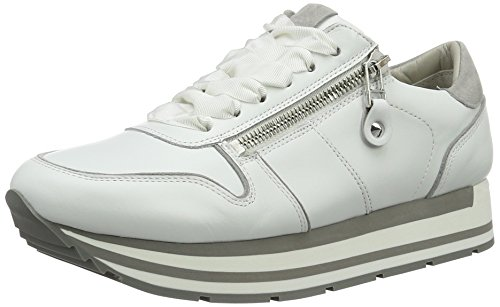 Top Light Women's Kennel Bianco Sneakers und Grau Schmenger Weiß Rock Sohle Schuhmanufaktur Low weiss xqtnYvrtw