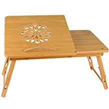 Lapdesk - Portable, Adjustable Tray, Stand, Bed Table with Decorative Vent - for Laptop Computers, Tablets and Books