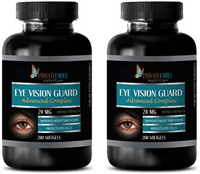 Eye Supplements with zeaxanthin + Lutein Bilberry - Eye Vision Guard 24 MG - Advanced Complex - Lutein zeaxanthin - 2 Bottles 400 Softgels