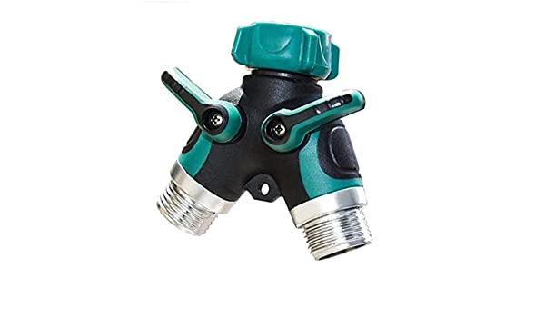 Home Improvement Garden Hose Splitter 2-way Y Shape Valve Hose To Hose Connector With 2 Shut Off Switch Metal Abs For Faucet Taps Pipe Pipe Fittings