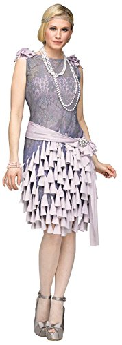 Fun World Women's the Great Gatsby-Daisy Buchanan Bluebells Costume, Grey, Medium