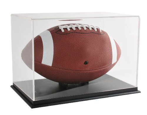 Snap Acrylic Football Display (Black Acrylic Football Display Case)